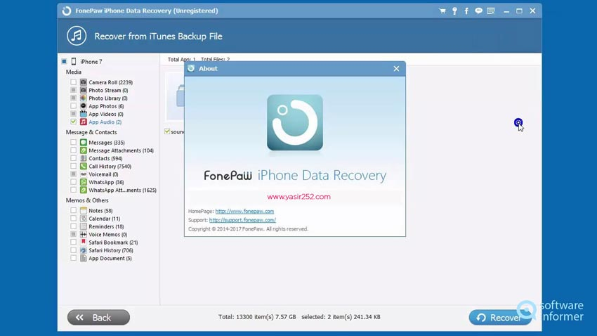 iPhone Data Recovery Software Download Full Crack