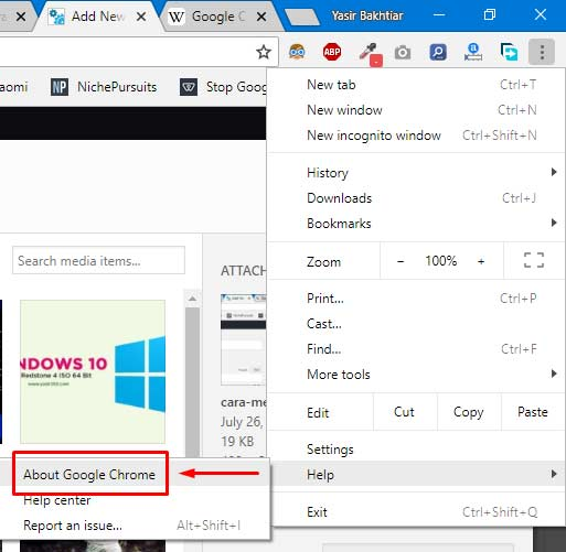 Cara Update Chrome di PC