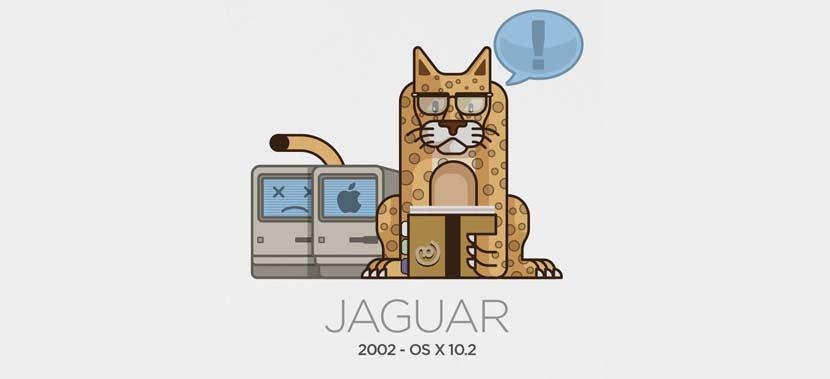 Mac OSX Jaguar Tahun 2002 Versi 10.2