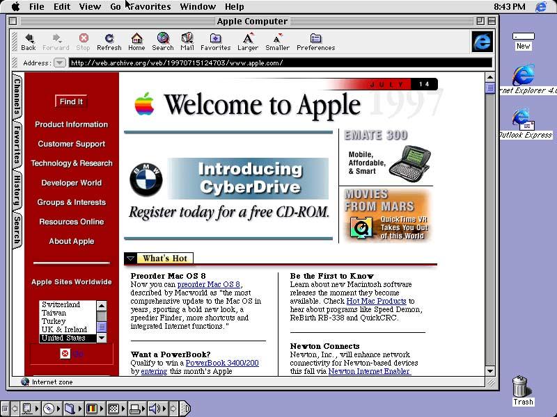 Macintosh Versi 8 Tahun 1998 Jadul