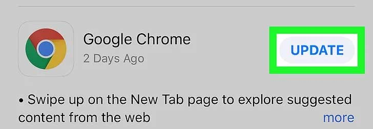 Mengupdate Chrome di iPhone iPad iPod iOS