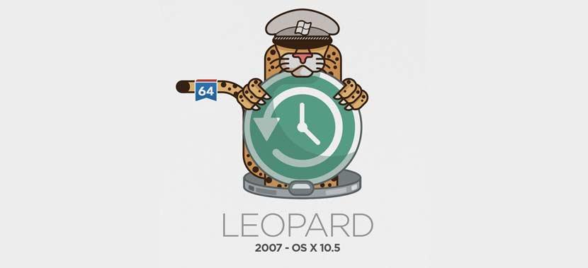 Versi Mac OSX Leopard 10.5 Tahun 2007