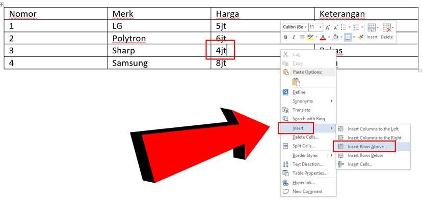 Cara menambahkan baris baru di microsoft word