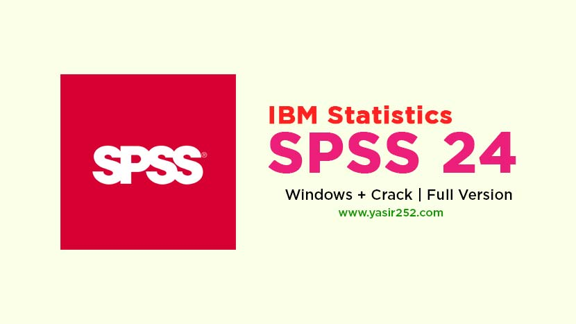IBM SPSS 24 Free Download Full Version