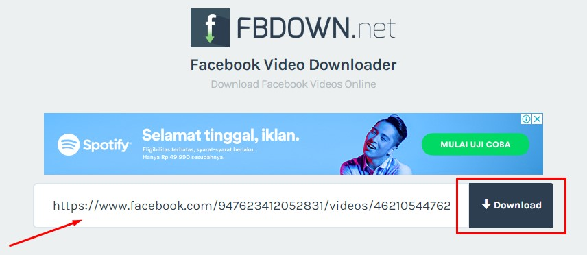 cara download video dari facebook downloader