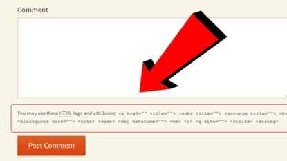 Cara Menghapus You May Use These HTML Tags And Attributes