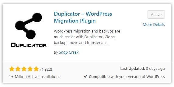 Plugin Duplicator Untuk Backup WordPress