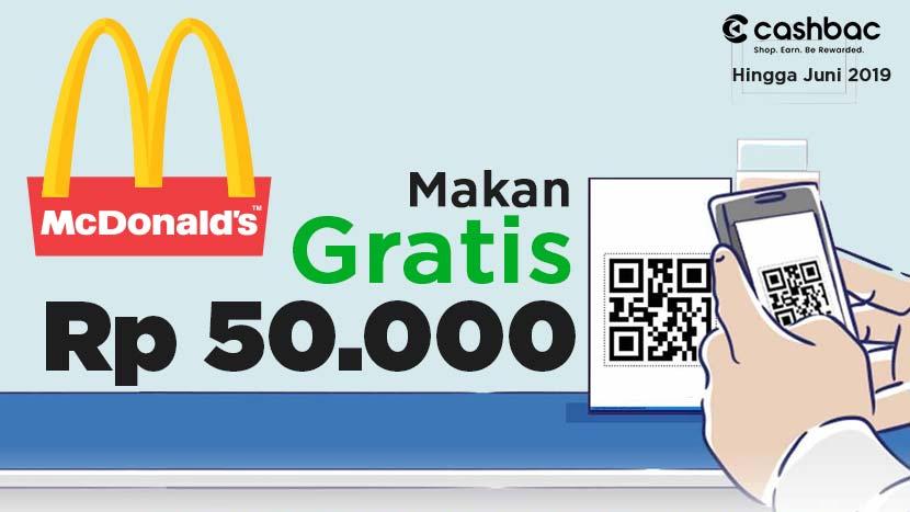 Promo MCDonald 2018 Gratis Rp 50.000