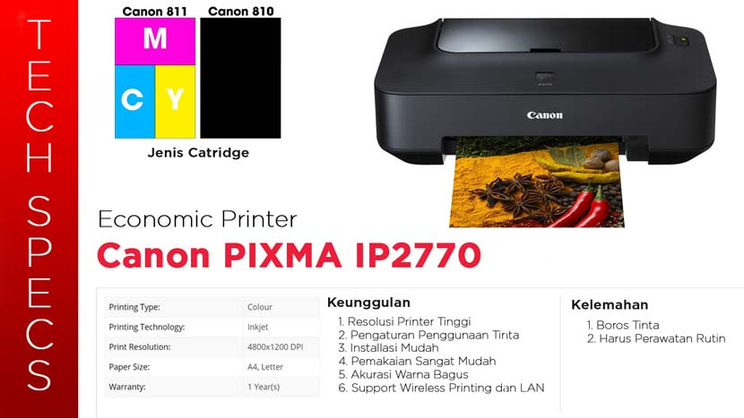 Spesifikasi Printer Canon Pixma IP2770