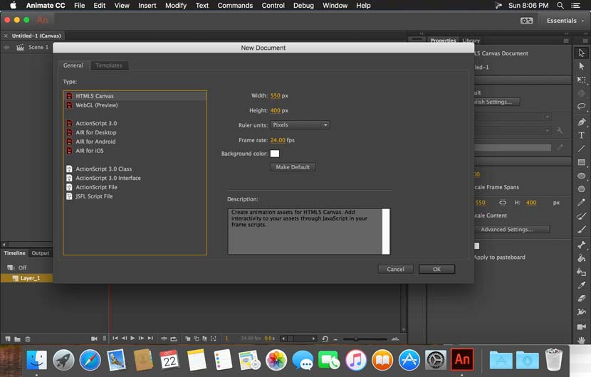 Adobe Animate CC 2018 Mac Full Crack