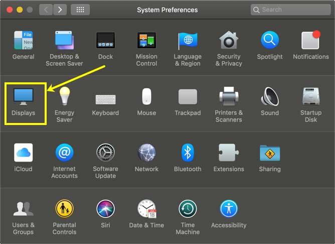 cara mengaktifkan night mode macos macbook