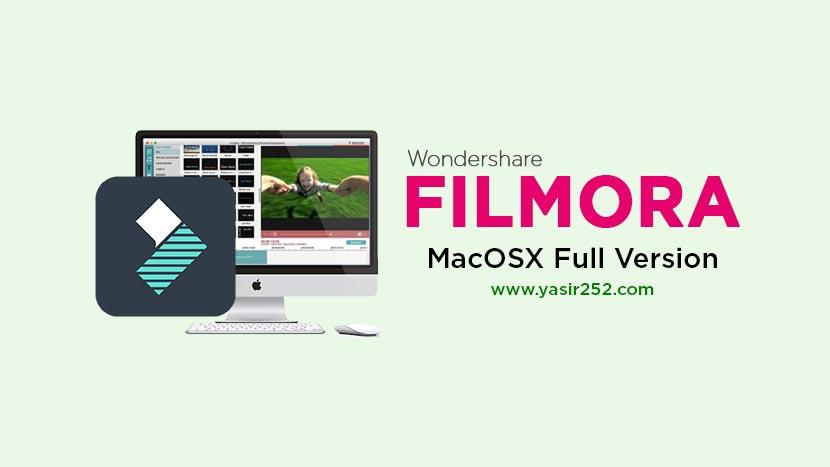 Wondershare Filmora MacOSX Free Full Version Download