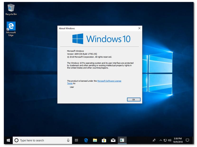 Download Windows 10 Pro Redstone 5 Terbaru ISO