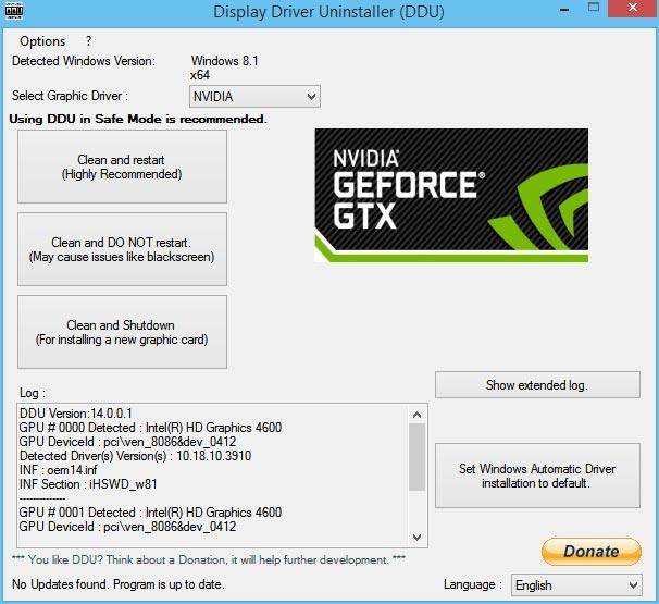 Free Download Display Driver Uninstaller Windows
