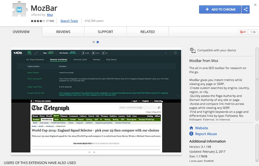 Mozbar Seo Extension Chrome Terbaik