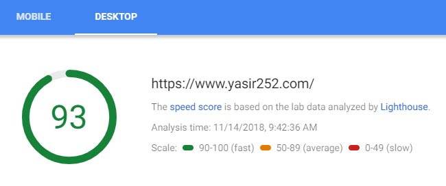 Pagespeed Insights Kecepatan Website