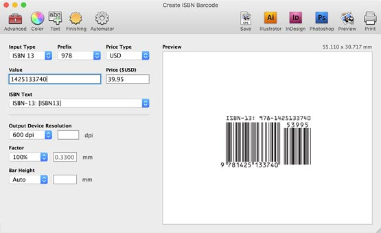 Barcode Producer 6 MacOSX