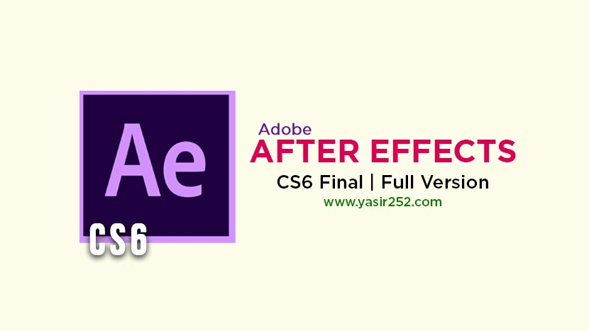 Download Adobe After Effects CS6 Full Version Crack