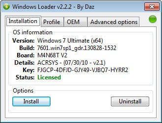 WINDOWS 7 ULTIMATE LOADER BY DAZ FINAL ACTIVATOR 2.2.2