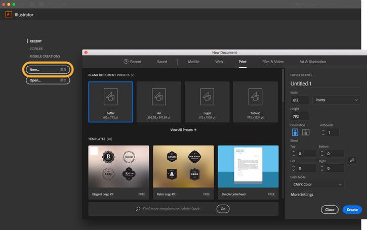 User interface adobe illustrator terbaru