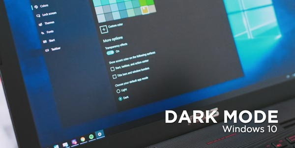 Mengaktifkan Dark Mode Windows 10