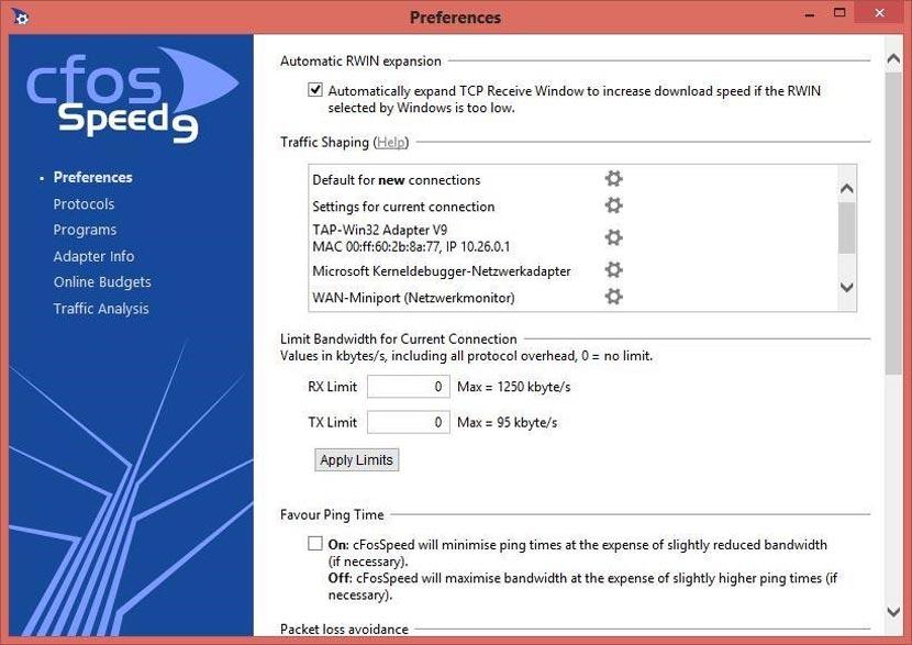 CfosSpeed Full Version Gratis PC