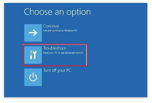 Restore Data Windows Troubleshoot