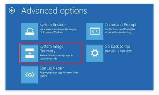 System recovery image windows 10