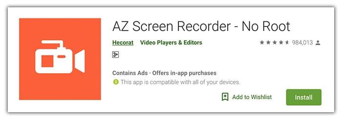 AZ Screen Recorder Android APK