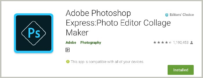Photoshop Express Aplikasi Edit Foto Terbaik Android