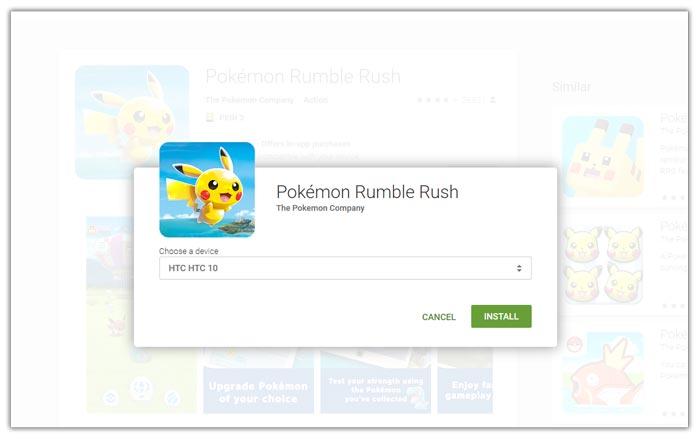 Mendownload melalui website play store di browser