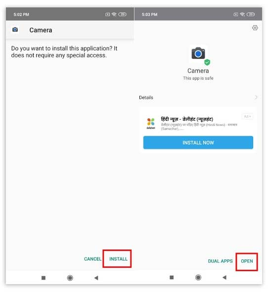 Install Google Camera Redmi Note 7