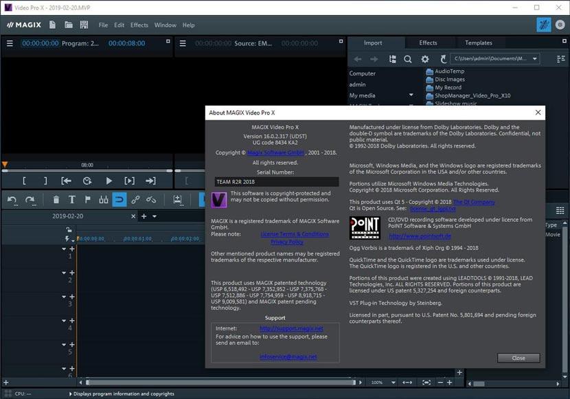 MAGIX Video Pro X11 Full Crack