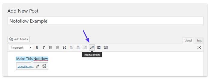 Membuat Link Baru di WordPress
