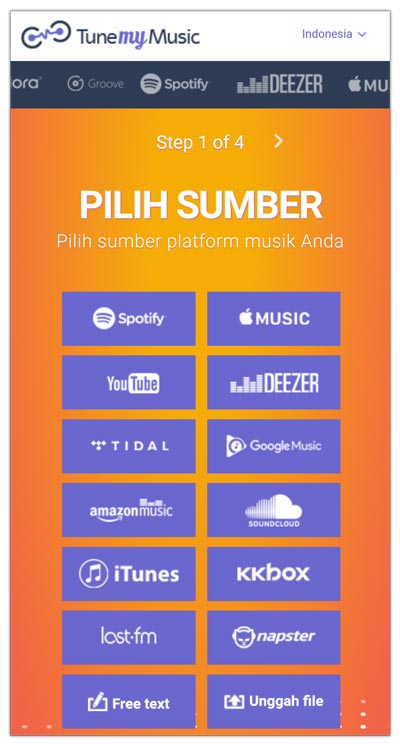 cara memilih layanan streaming tune my music
