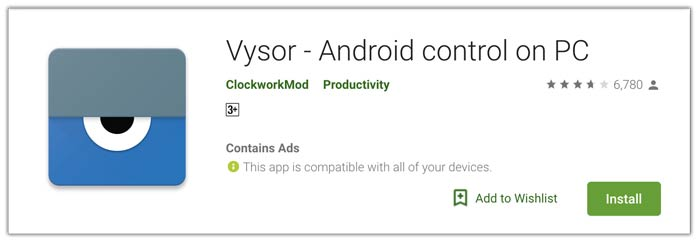 Vysor Screen Capture Android