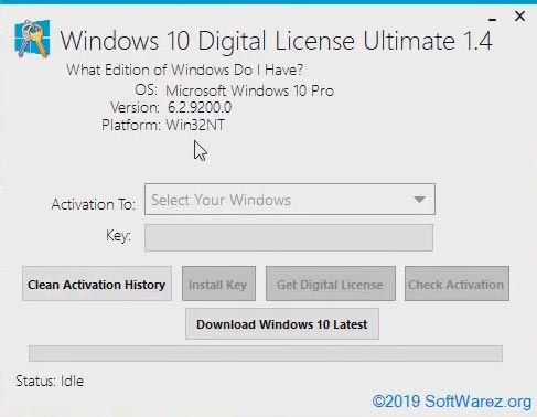 Windows 10 Digital License Activator Terbaru