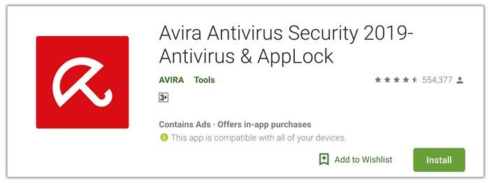 Avira aplikasi antivirus terbaik android