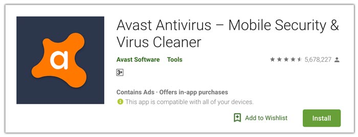 Avast aplikasi antivirus terbaik android