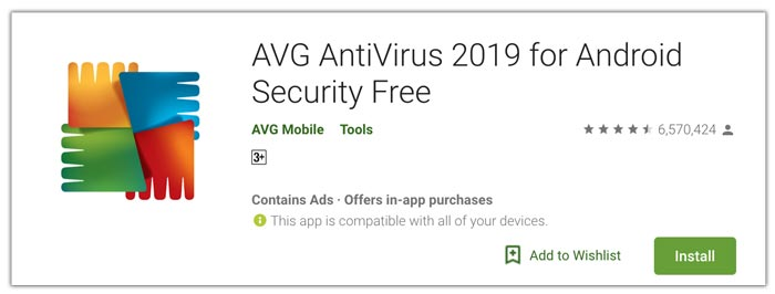 AVG security untuk Android