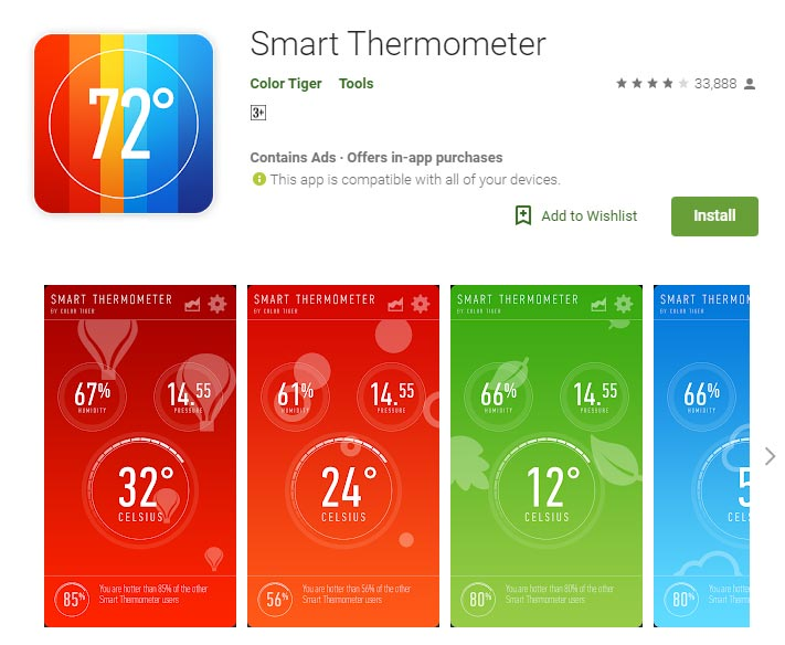 Mengecek Suhu Smartphone Android