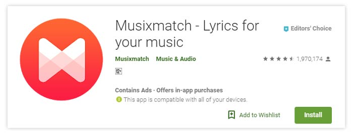 MusixMatch Lyrics Audio Streaming