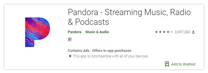 Pandora Streaming Music Radio Podcast Android