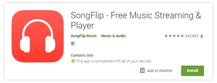 Songflip Free Music Streaming Android