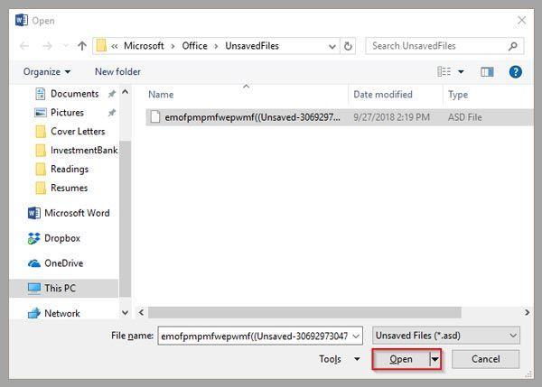 Mengembalikan File Dokumen Word Corrupt