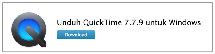 Download software QuickTime Player