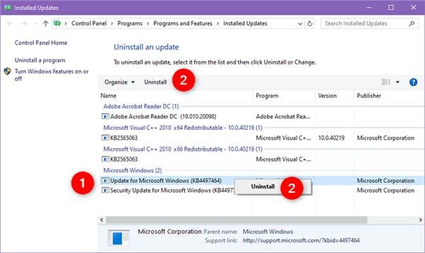 Cara Menghapus Updates Windows 10