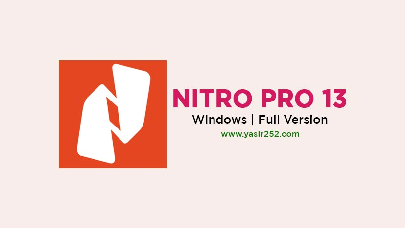 Download Nitro Pro 13 Full Version PDF Software