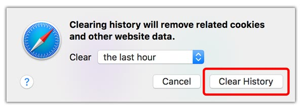 Clear History Safari