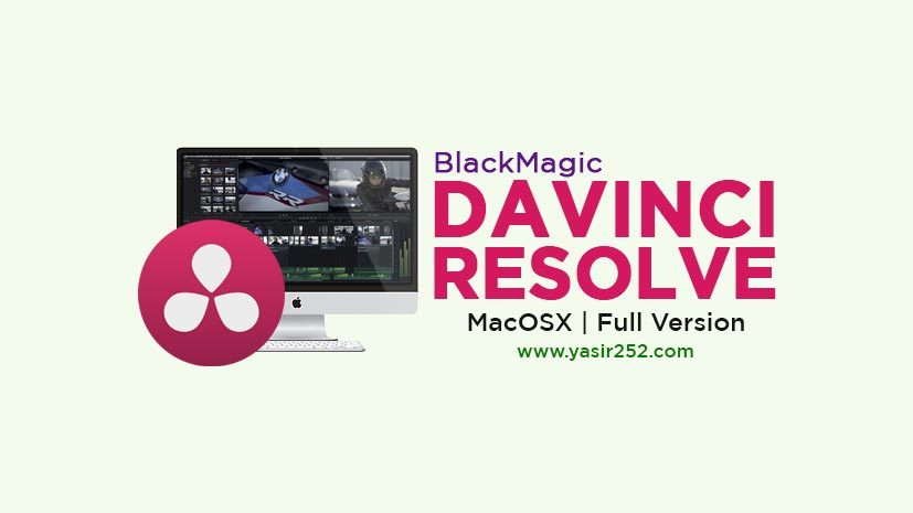 BlackMagic Davinci Resolve 16 MacOS Full Version Free